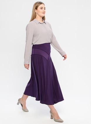Plum - Unlined - Plus Size Skirt