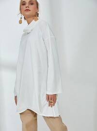 Ecru - Polo neck - Tunic