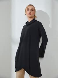 Black - Polo neck - Tunic
