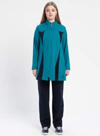 Petrol - Polo neck - Tracksuit Set