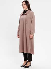 Minc - Unlined - Point Collar - Polo neck - Plus Size Coat