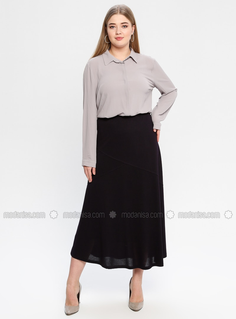 Plum - Fully Lined - Plus Size Skirt