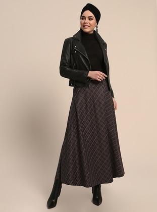 Purple - Stripe - Unlined - Skirt
