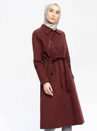 Cherry - Fully Lined - Point Collar - Trench Coat
