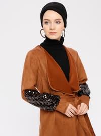 Tan - Unlined - Shawl Collar - Topcoat