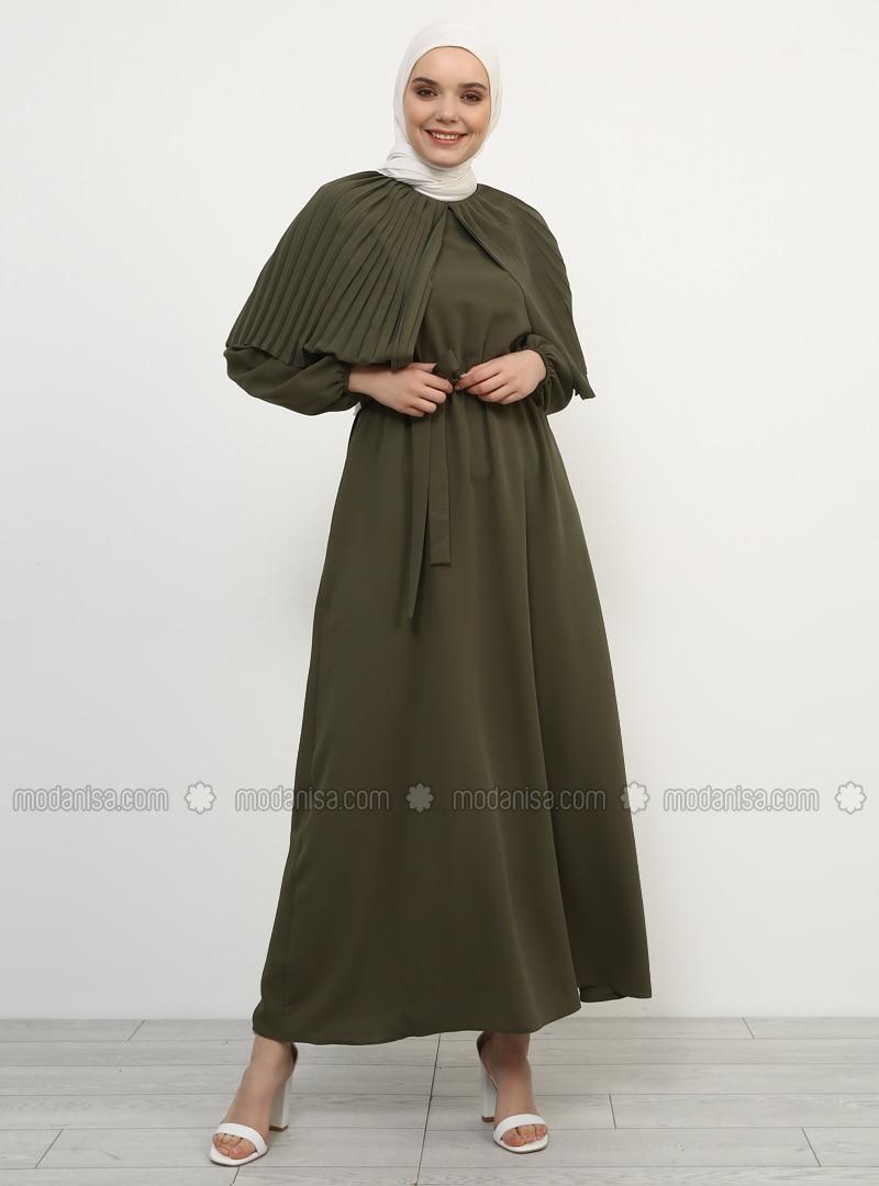 1d458dff2d46 Khaki - Crew neck - Unlined - Dress