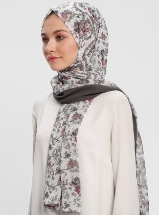 Multi - Printed - Chiffon - Shawl