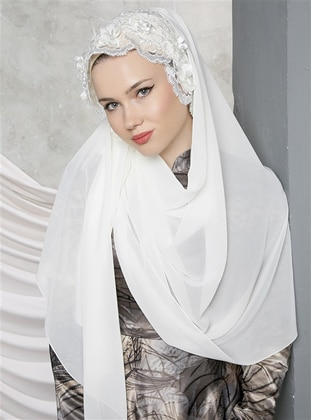 White - Lace - Shawl