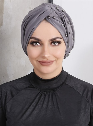 Smoke-coloured - Plain - Simple - Bonnet