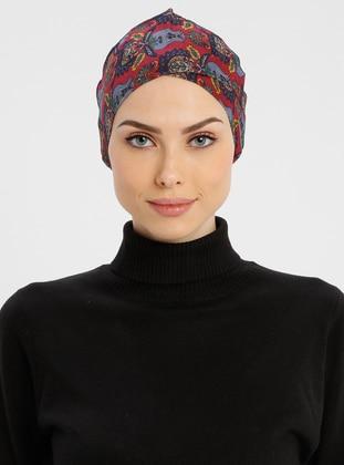 Maroon - Lace up - Simple - Cotton - Bonnet