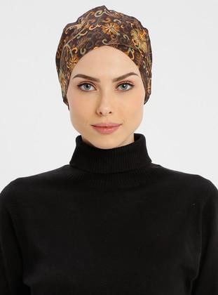 Brown - Lace up - Simple - Cotton - Bonnet