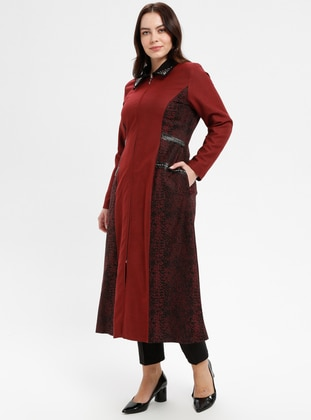 Terra Cotta - Fully Lined - Point Collar - Plus Size Coat