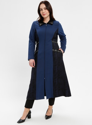 Saxe - Fully Lined - Point Collar - Plus Size Coat