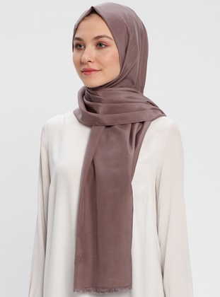 Dusty Rose - Plain - Cotton - Shawl - Benatt