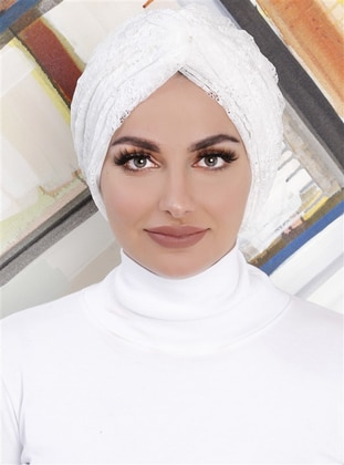 White - Lace - Simple - Bonnet