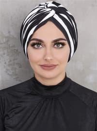 Black - White - Simple - Bonnet