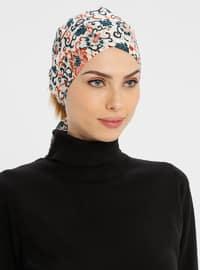 Beige - Lace up - Simple - Cotton - Bonnet