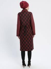 Terra Cotta - Multi - Unlined - V neck Collar - Topcoat
