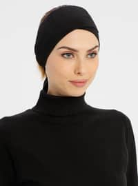 Black - Lace up - Simple - Bonnet