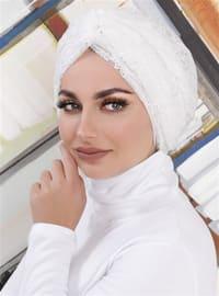 White - Lace - Simple - Bonnet