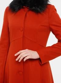 Orange - Fully Lined - Coat