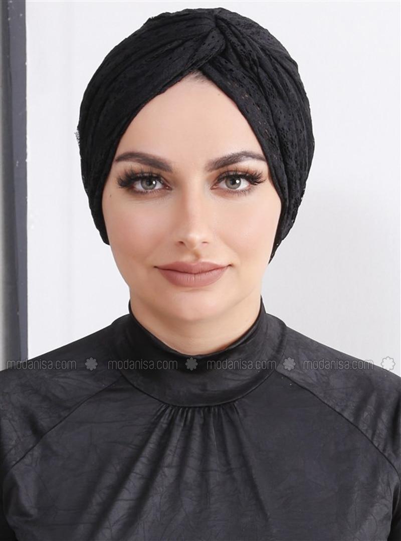 Black - Lace - Simple - Bonnet