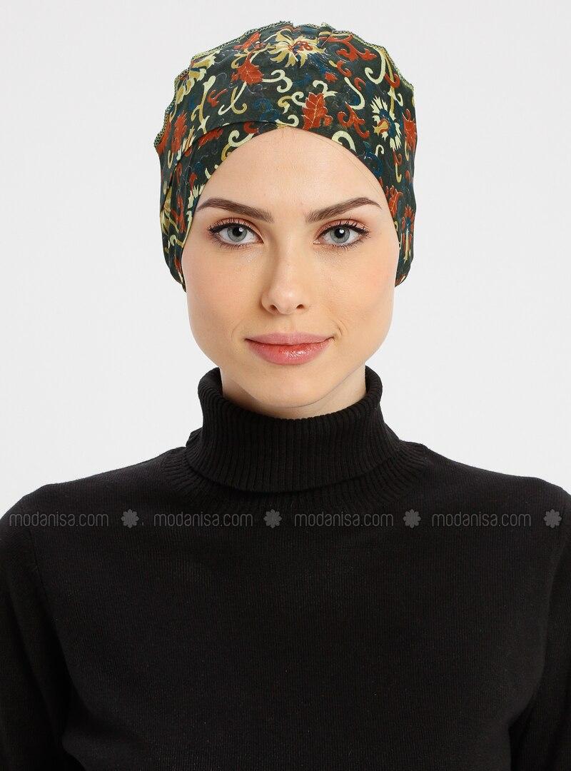 Khaki - Lace up - Simple - Cotton - Bonnet