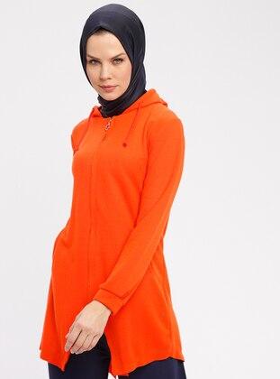 Orange - Sweat-shirt