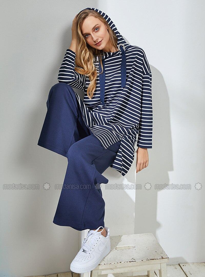 Bleu marine - A rayures - Tissu non doublé - Costume bc4bf660b58