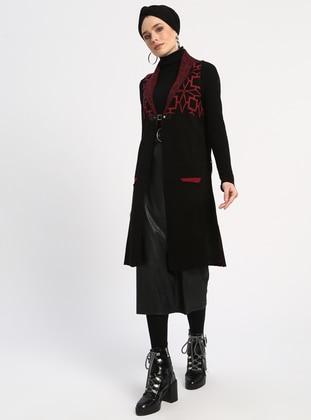 Black - Multi - Unlined - Acrylic -  - Vest