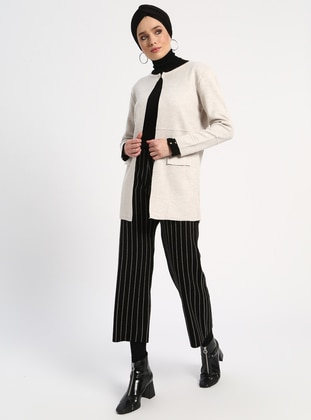 Beige - Unlined - Acrylic -  - Jacket