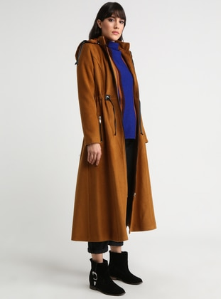 Mustard - Fully Lined - Crew neck - Topcoat
