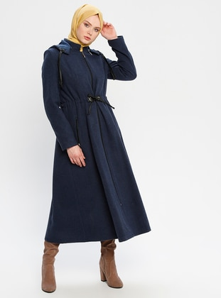 Indigo - Fully Lined - Crew neck - Topcoat