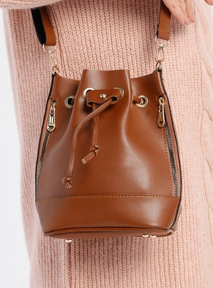Tan - Shoulder Bags - MOON
