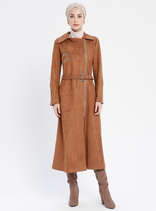 Tan - Unlined - Point Collar - Trench Coat