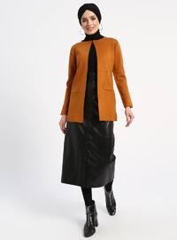 Tan - Unlined - Acrylic -  - Jacket