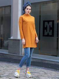 Mustard - Polo neck -  - Tunic