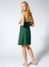 Green - Golden tone - Half Covered Switsuits