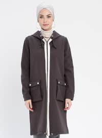 Smoke-coloured - Unlined - Coat