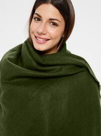 Acrylic - Green - Plain - Shawl Wrap