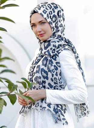 Multi - Leopard - Printed - Cotton - Shawl - Şal Evi