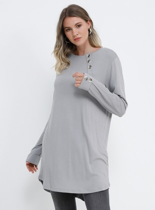 f3048ab0e رمادي - قبة مدورة - تونيكات بمقاسات كبيرة. Alia · ملابس مقاسات كبيرة -  رمادي. 16.99 USD 33.99 USD