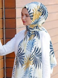 Multi - Floral - Printed - Cotton - Shawl - Şal Evi