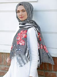 Red - Multi - Printed - Cotton - Shawl