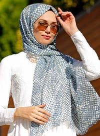 Gray - Multi - Printed - Cotton - Shawl - Şal Evi