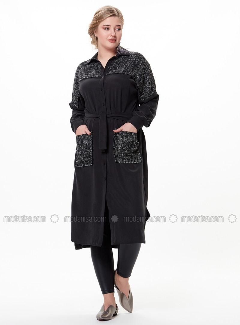 Black - Plus Size Coat