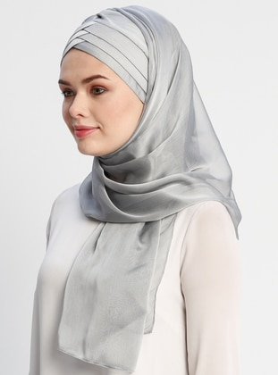 Silver tone - Plain - Instant Scarf