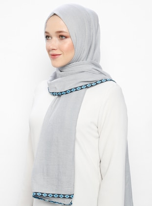 Silver tone - Patterned Side - Shawl