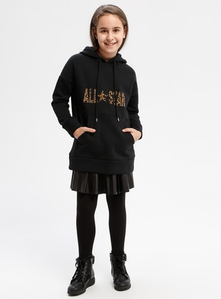 Cotton - Black - Sweat-shirt -  FOR KIDS