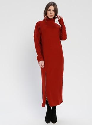 Terra Cotta - Polo neck - Unlined - Dresses